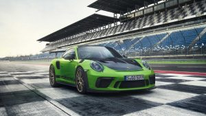 Porsche 911 GT RS on a race track