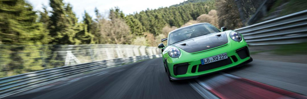Porsche 911 GT3 RS on a race track