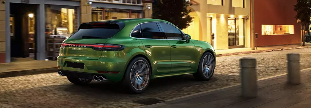2020 Porsche Macan driving away