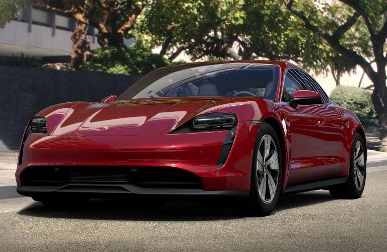 2020 Porsche Taycan Carmine Red