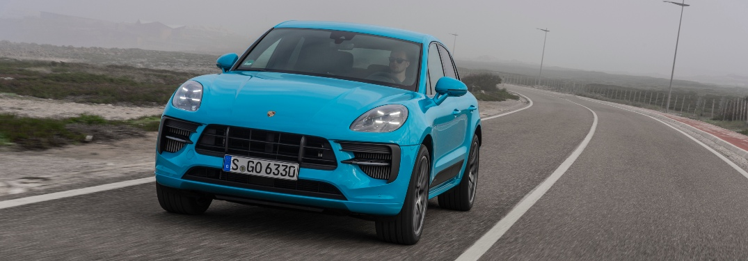 2020 Porsche Macan GTS going down the road