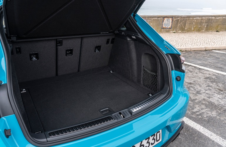 2020 Porsche Macan with back hatch open