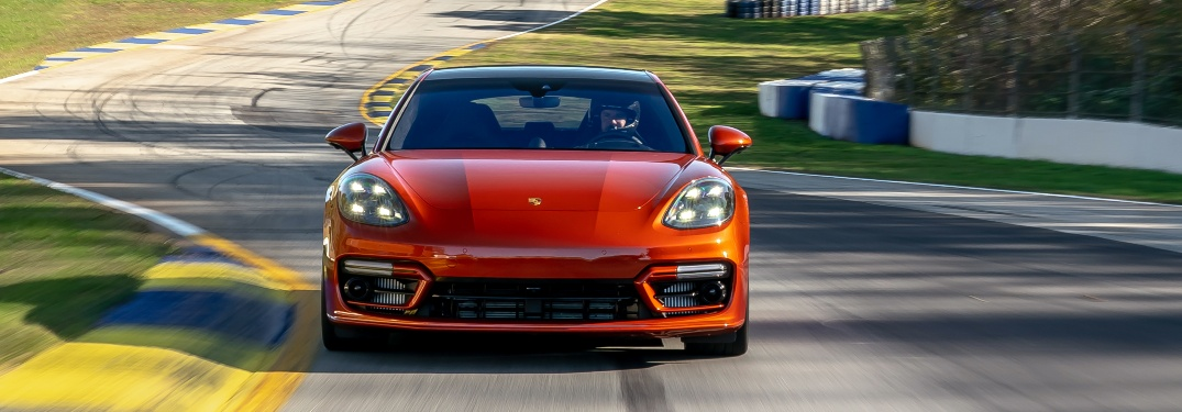 2021 Porsche Panamera Turbo S on the track