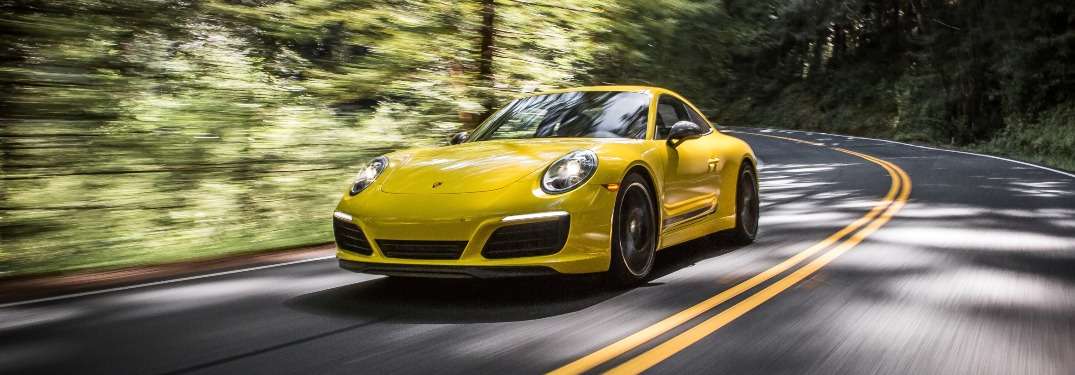 2021 Porsche 911 going down the road