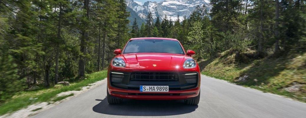 2021 Porsche Macan front view on road