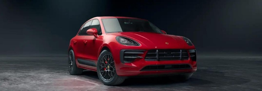 2021 Porsche Macan side and front view