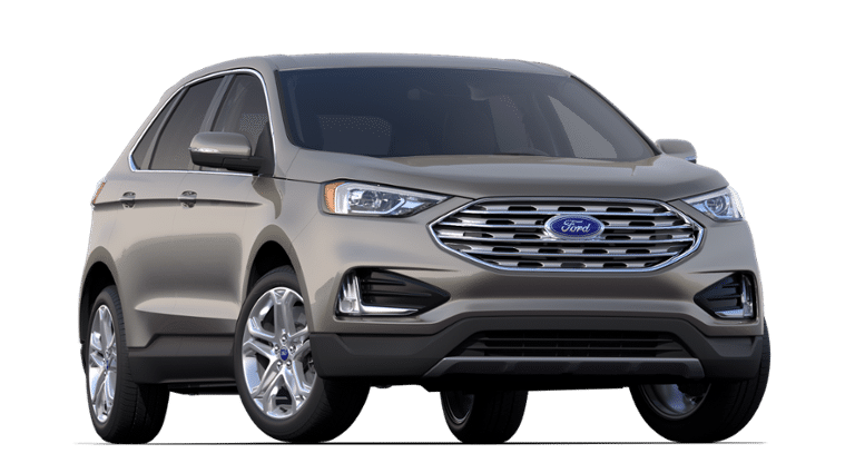 2019 Ford Edge grey front view