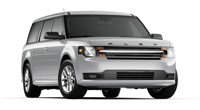 2019 Ford Flex white front view
