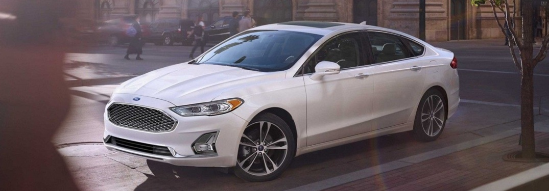 2018 Ford Fusion white side view