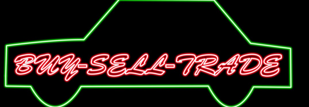 neon buy sell trade car sign