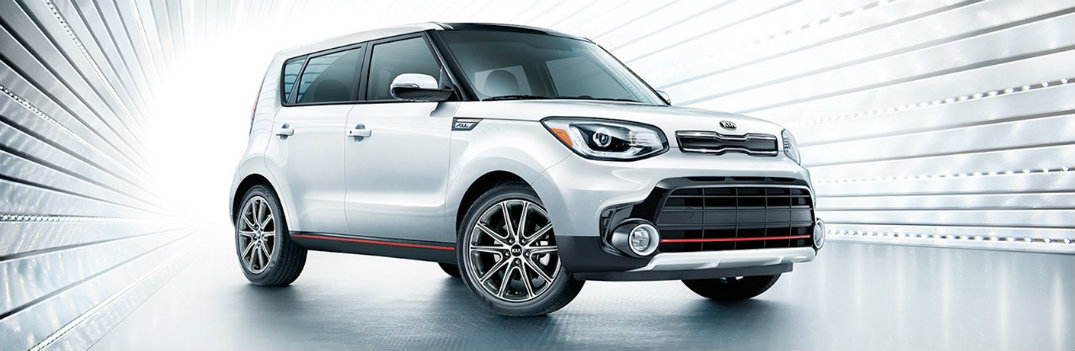 2019 Kia Soul White in White Puff Daddy Background