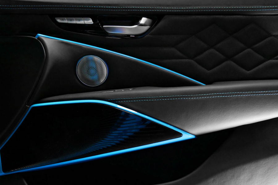 2019-DUB-Kia-K900-Interior-Door-Panel-at-SEMA