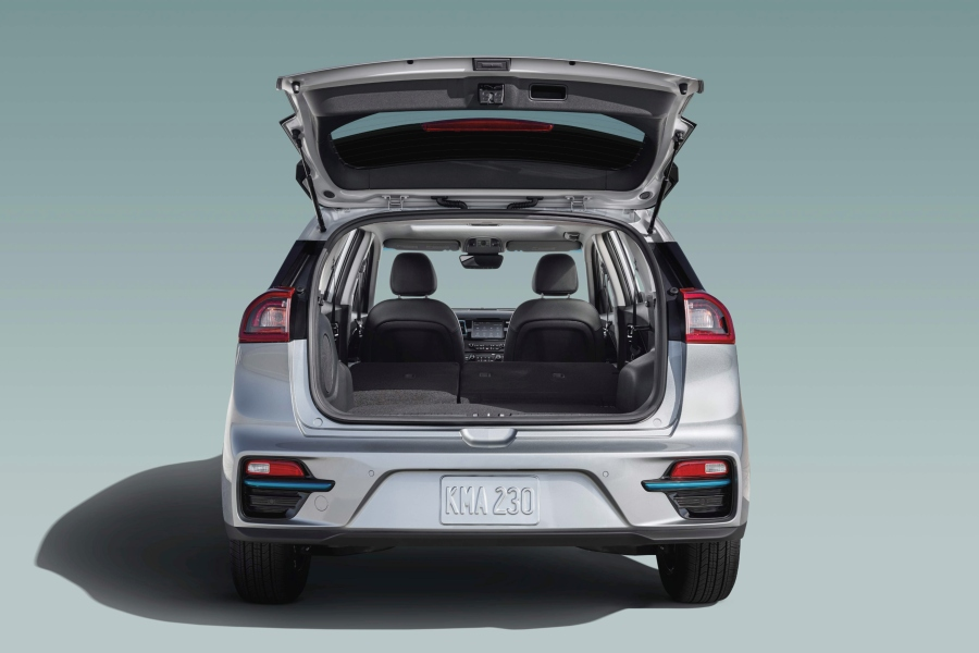 2019 Kia Niro EV Exterior Rear Fascia with Opened Tailgate