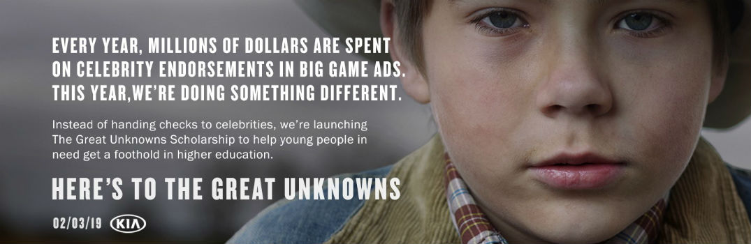 Young Cowboy Face while Kia Motors Teases Super Bowl Campaign with Launch of The Great Unknowns