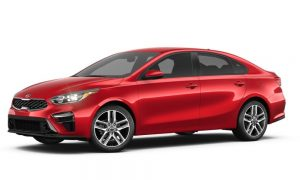 2019 Kia Forte in Currant Red color