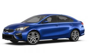 2019 Kia Forte in Deep Blue Sea color