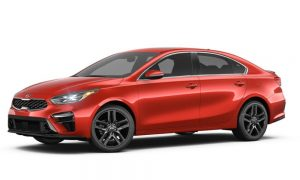 2019 Kia Forte in Fire Orange color