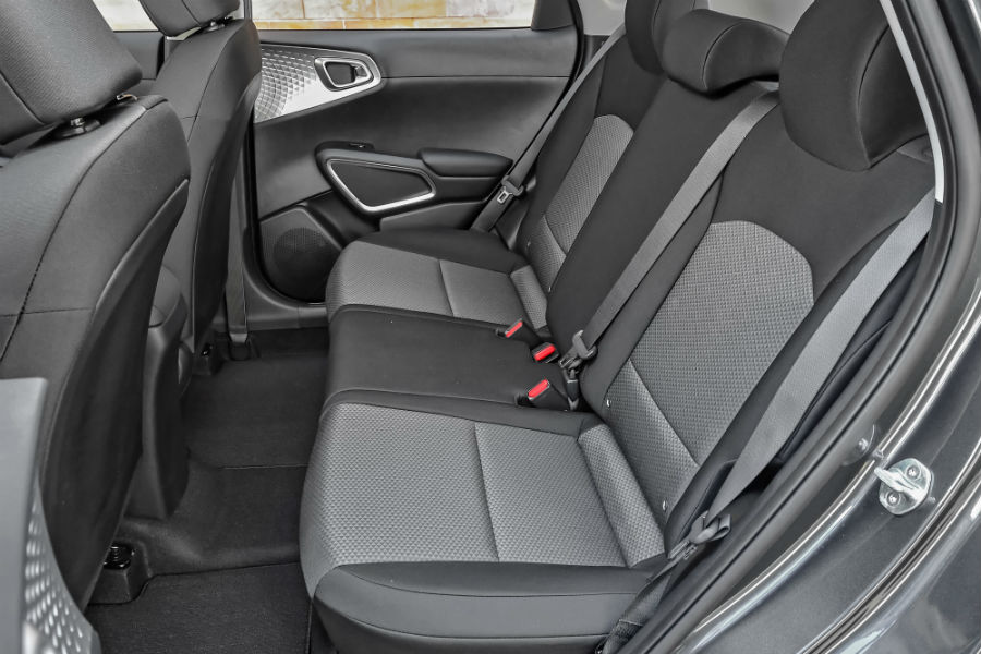 rear passenger space in a 2020 Kia Soul