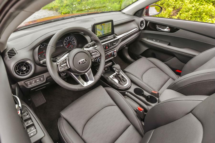 front interior of a 2020 Kia Forte
