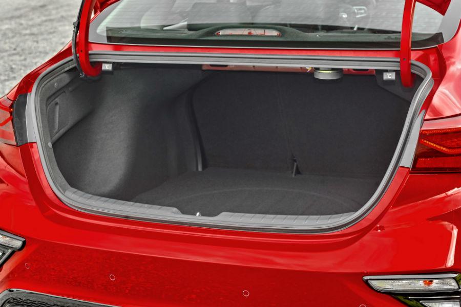 open trunk of a 2020 Kia Forte