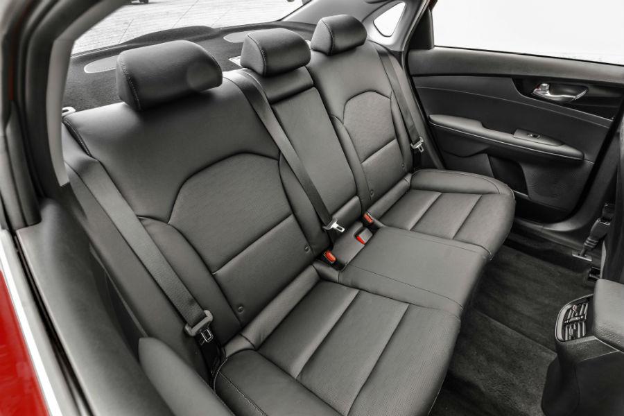 rear interior of a 2020 Kia Forte