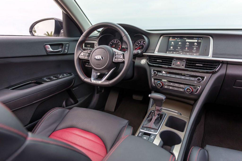 front interior of a 2020 Kia Optima