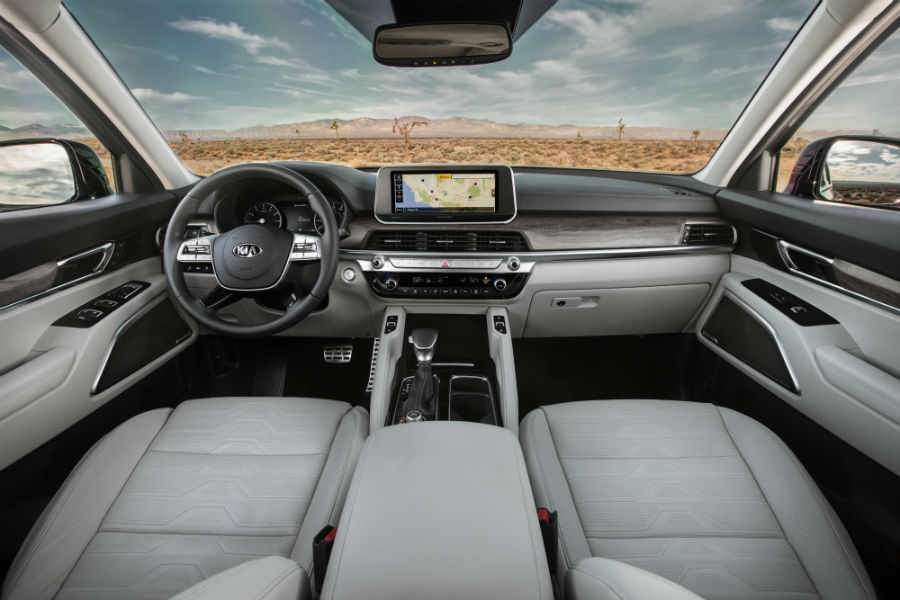 front interior of a 2020 Kia Telluride