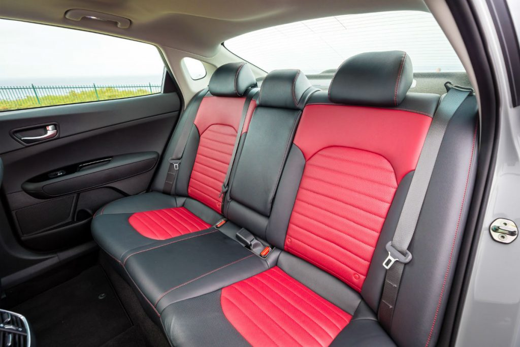 rear interior of a 2020 Kia Optima