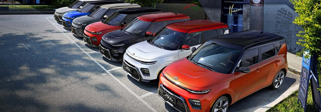 Check Out These Electric Exterior Color Options for the Electric 2020 Kia Soul Lineup at Classic Kia of Carrollton in the Dallas-Fort Worth Area of Texas