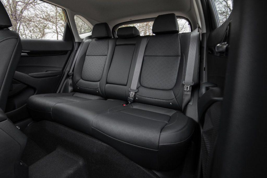 rear interior of a 2021 Kia Seltos