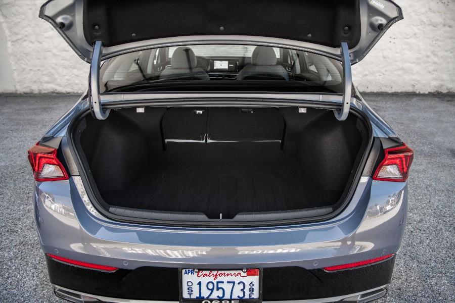 open trunk of a 2021 Kia K5