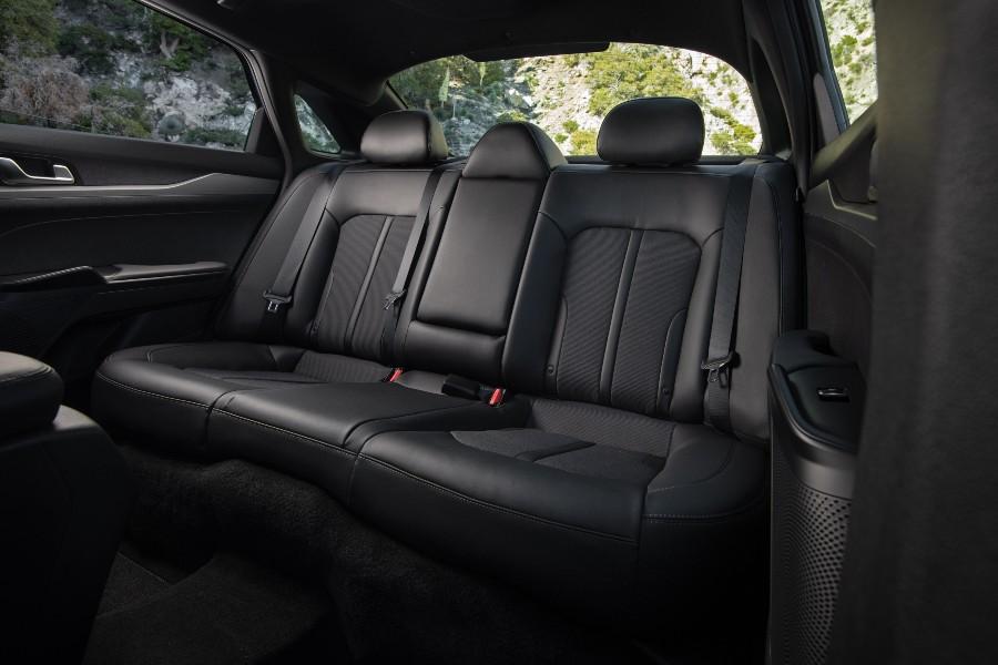 rear interior of a 2021 Kia K5
