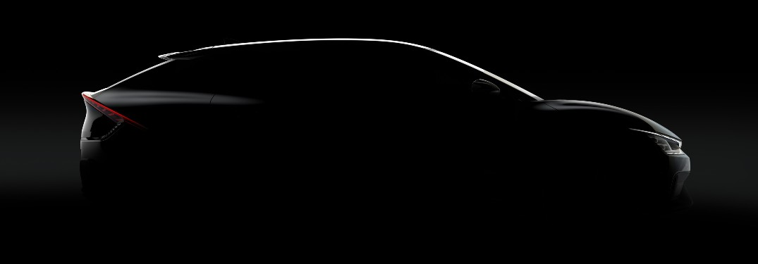 silhouette of the Kia EV6