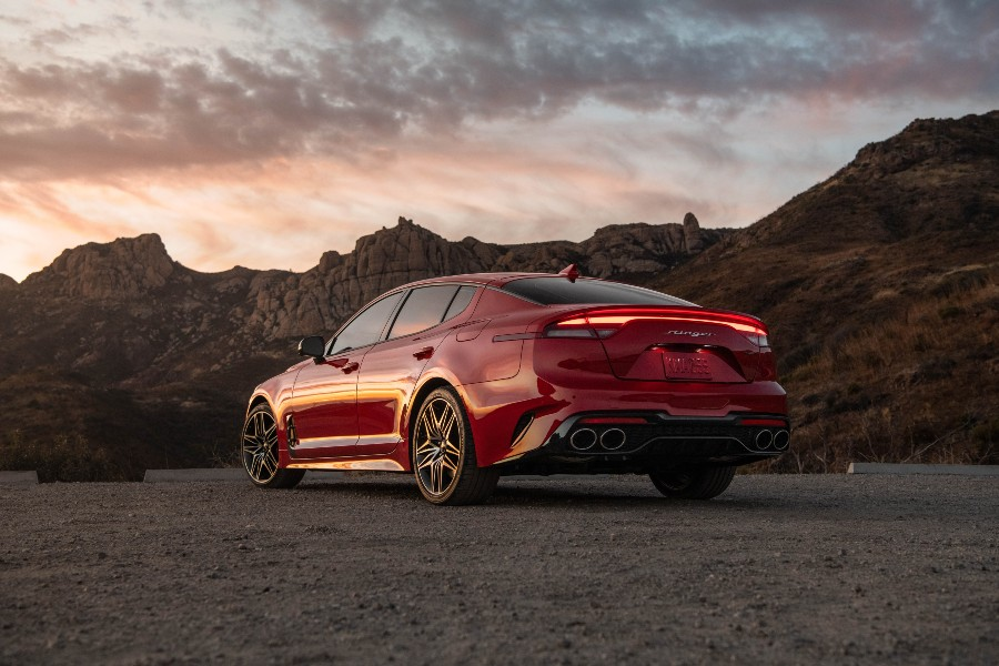 rear view of a red 2022 Kia Stinger