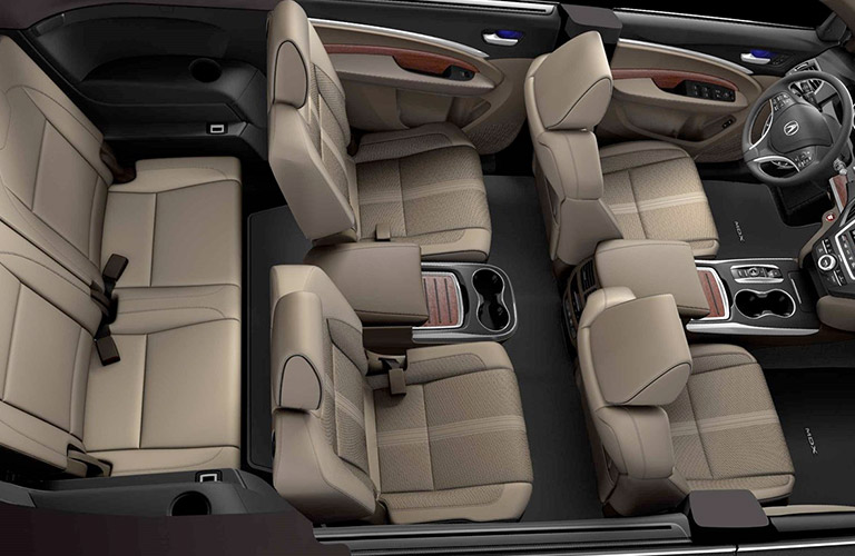 2019 Acura MDX interior cargo volume and seating capacity ...