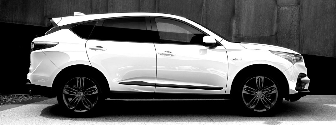 Black and White image of the 2019 Acura RDX