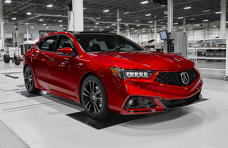 2020 Acura TLX in red