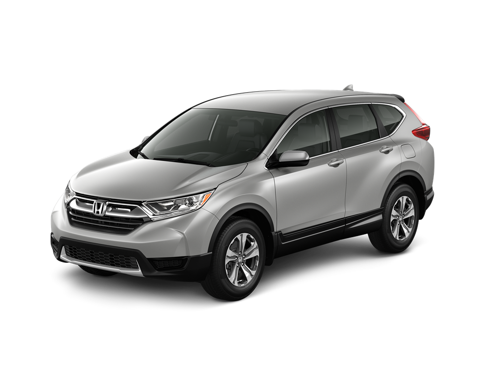 Exterior View Of A Silver 2018 Honda CR V LX 2WD Trim
