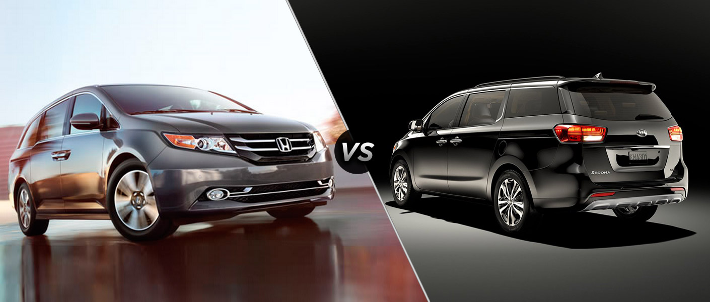 a tail of two minivans 2015 honda odyssey vs 2015 kia sedona