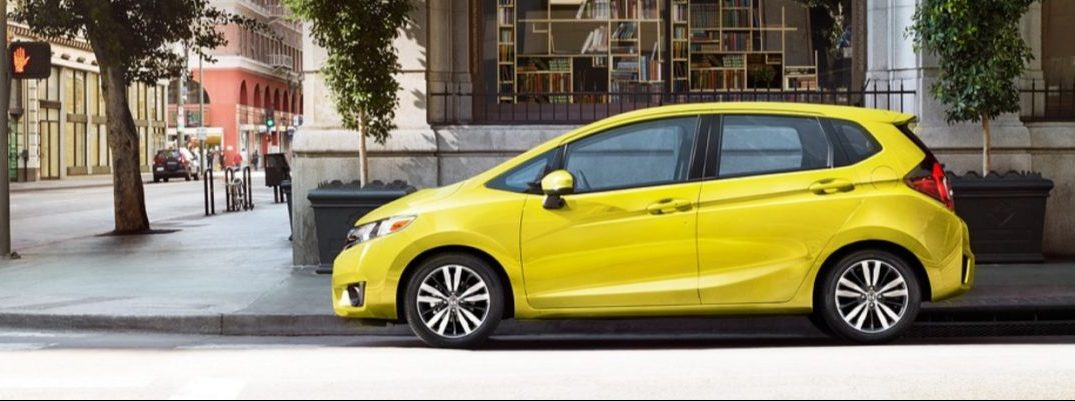 2017 Honda Fit exterior side yellow