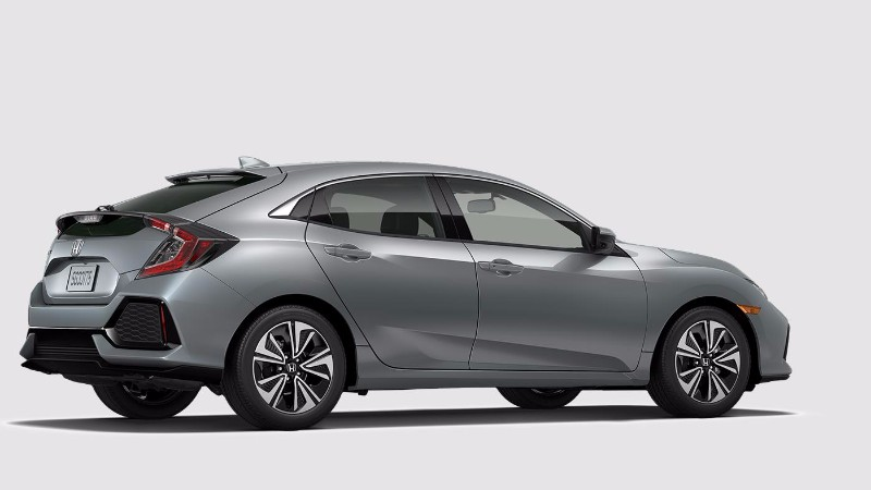 2018 Honda Civic Hatchback Sonic Gray