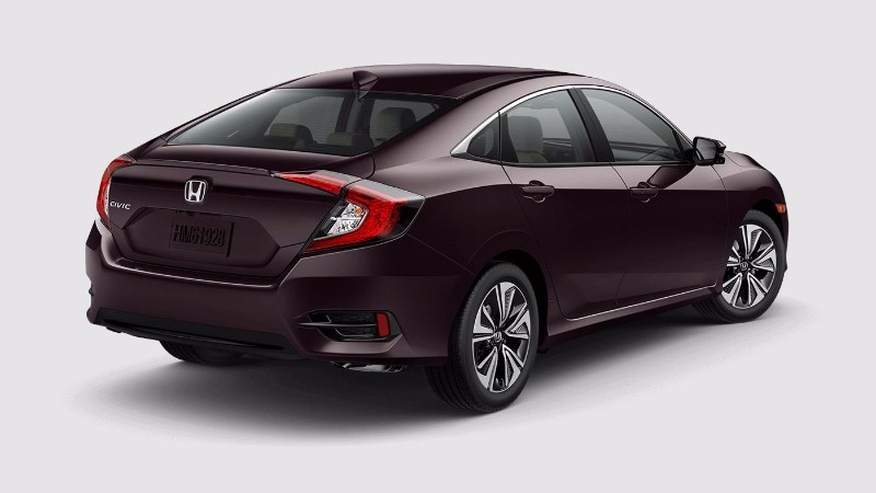 2018 Honda Civic Sedan in Burgundy Night Pearl