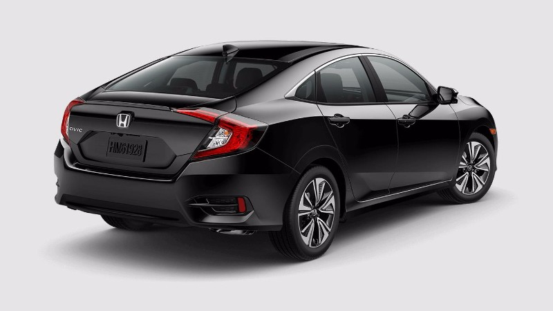 2018 Honda Civic Sedan in Crystal Black Pearl