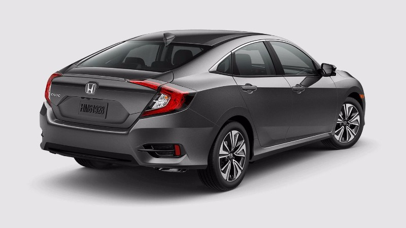 2018 Honda Civic Sedan in Modern Steel Metallic