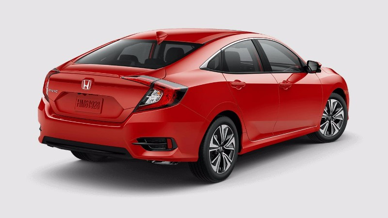 2018 Honda Civic Sedan in Rallye Red