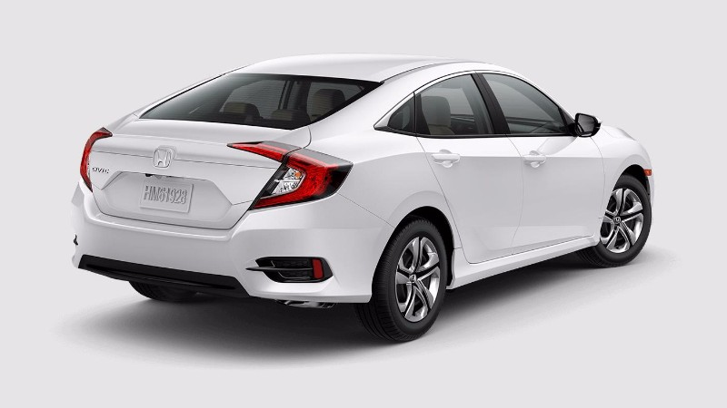 2018 Honda Civic Sedan in Taffeta White