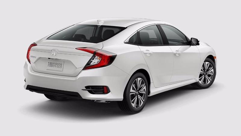 2018 Honda Civic Sedan in White Orchid Pearl