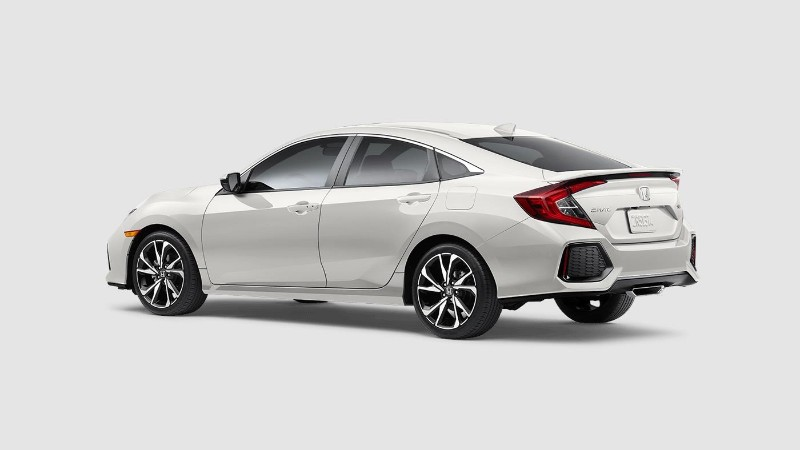 2018 Honda Civic Si in White Orchid Pearl
