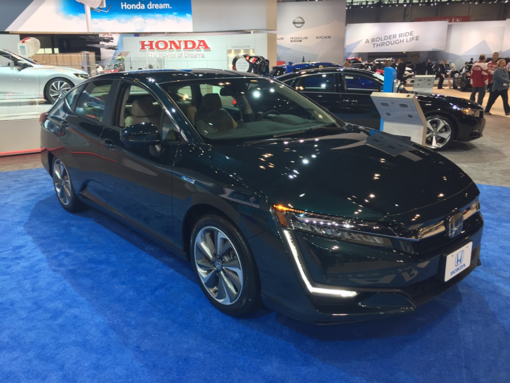 Full view of the Honda Clarity at the 2018 Chicago Auto Show