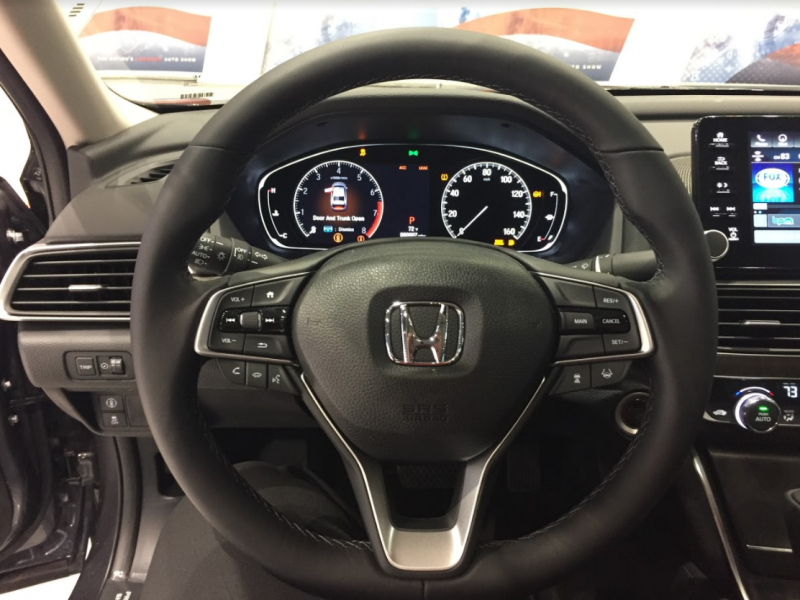 interior front steering wheel 2018 Honda Accord at the Chicago Auto Show